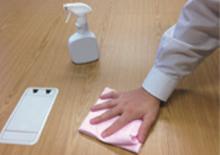 机やカウンターに除菌水
