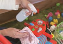 おもちゃに除菌水